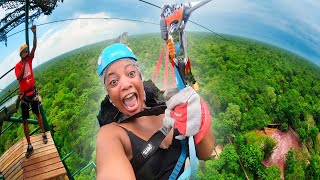 800 FOOT ZIP LINE!!! (crazy adventures)
