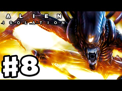 Alien: Isolation - Gameplay Walkthrough Part 8 - All Around Me! (PC Gameplay with Facecam)