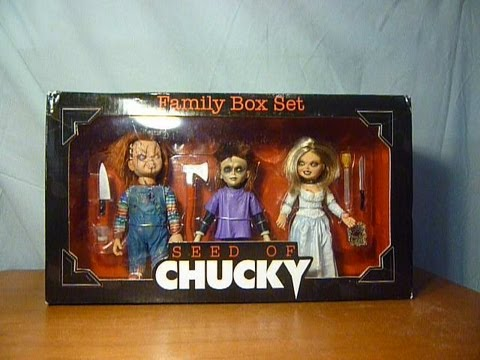neca seed of chucky figure boxset childs play youtube