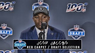 Josh Jacobs after being selected No 24 overall in the NFL Draft