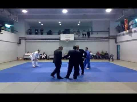 Judo disqualification. Hansoku make for tomoe nage- juji gatame Image 1