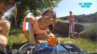TRENDING FUN: RC CAR FPV VIDEO GAG PRANKS - TRAXXAS X-MAXX CAM ONBOARD EURO 2016