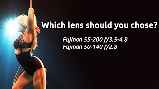 Fujinon 55-200 f/3.5-4.8 vs 50-140 f/2.8. Which zoom lens should you buy?