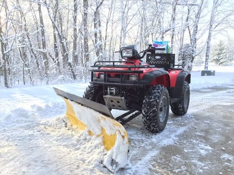 ATV Snow Plow! Moose Plow and Honda 450 Foreman
