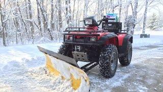 ATV Snow Plow! Moose Plow and Honda 450 Foreman
