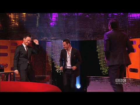 HUGH JACKMAN, MICHAEL FASSBENDER & JAMES McAVOY's Blurred Lines Dance - The Graham Norton Show BBCA