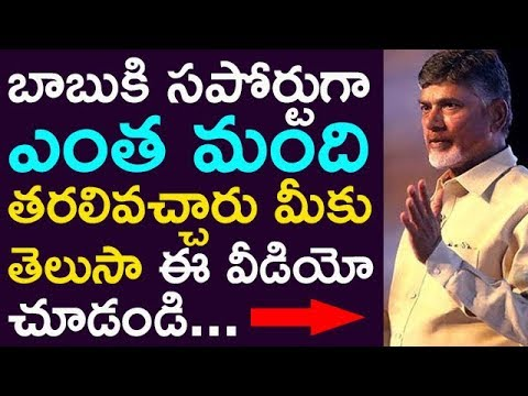 Did You Know How Many Politicians Are Supporting Chandrababu ???? | Taja30 |