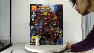 Mở hộp Lele 34036 Lego Marvel Super Heroes 76105 The Hulkbuster: Ultron Edition giá sốc rẻ nhất