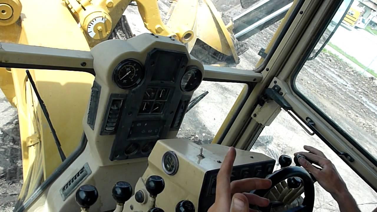 Cat 140H Motor Grader Controls - YouTube