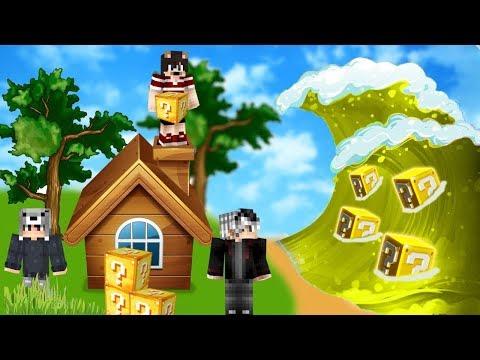 ŞANS BLOKLARI TUSUNAMİ VS EV #11 - Minecraft