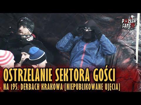Ostrzelanie Sektora Gości Na 195. Derbach Krakowa [NIEPUBLIKOWANE UJĘCIA] (13.12.2017 R.)