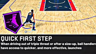 HOW TO SPEED LAUNCH IN NBA 2K20 - NBA 2K20  FIRST QUICK STEP BADGE / NEW SPEED BOOSTING MOVES
