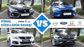 Dizel Otomatik Drag&Rolling Yarışı! | Opel Astra vs. Peugeot 308 vs. Honda Civic vs. Ford Focus