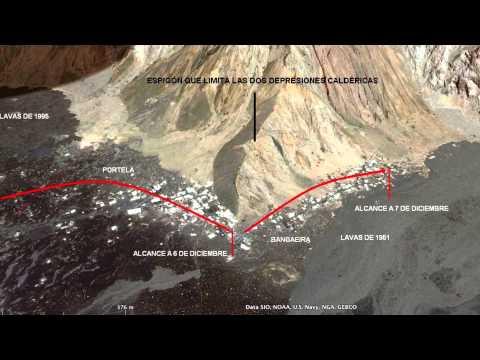 Archipiélago de Cabo Verde. Erupción volcánica en la isla de Fogo. Cha das Caldeira.