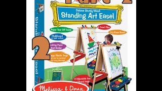 Review Melissa & Doug Deluxe Standing Easel Board Part 2 of 2
