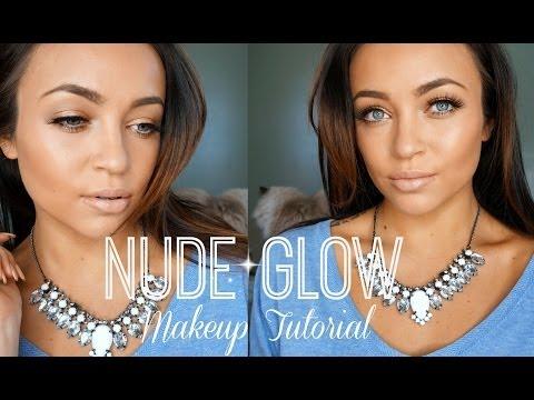Nude Glow Makeup Tutorial ♡ (Full Face)