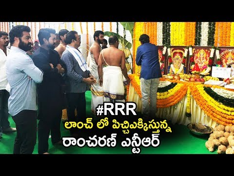 Ramcharan and NTR's RRR Movie Massive Movie Launch | SS Rajamouli | Chiranjeevi | Life Andhra Tv
