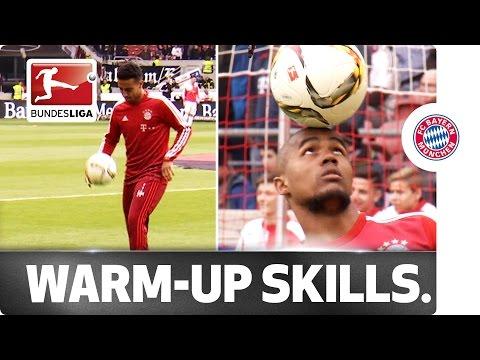 Costa and Thiago - Bayern's Pre-Match Entertainment