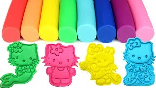 Play-Doh Hello Kitty Cookie Cutters and Surprise Toys Learn Colors for Kids