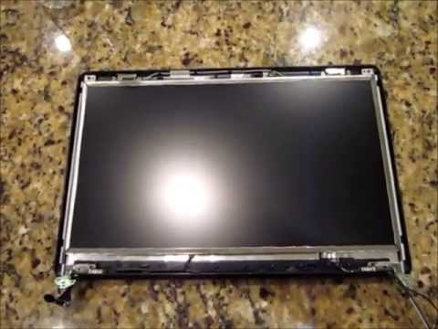 Laptop screen replacement / How to replace laptop screen Compaq Presario CQ61