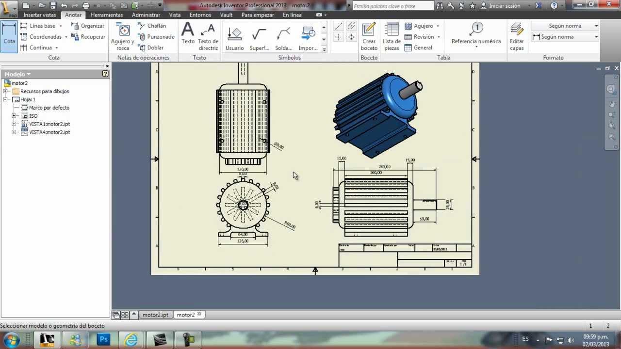 Autodesk inventor como hacer planos youtube for Programa para planos online