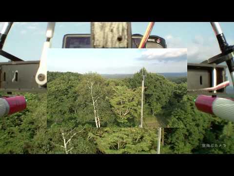 空飛ぶカメラ「1号機のジンバルの動き、子画面付き」0820
