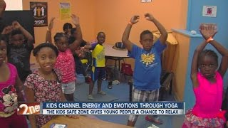 Kids channel energy and emotion through yoga