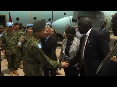 JAPANESE TROOPS ARRIVE IN SOUTH SUDAN   YouTube