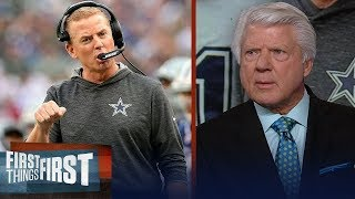 Jury is still out on if Cowboys should fire Jason Garrett — Jimmy Johnson | NFL | FIRST THINGS FIRST