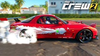 THE CREW 2 - MAZDA RX7 do TORETTO!!! (Velozes e Furiosos) DRIFT
