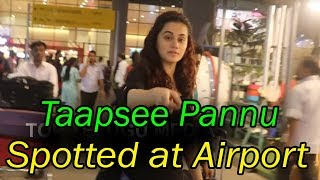 Taapsee Pannu Spotted At Airport | #TaapseePannu | Bollywood News | Top Telugu Media