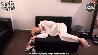 [ENG] 150902 BOMB: It s the pose when BTS sleep normally