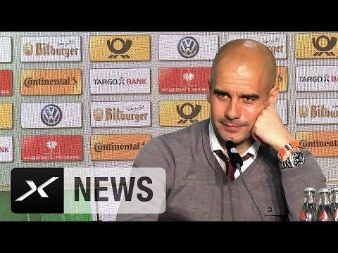 Pep Guardiola verabschiedet sich von Journalisten | FC Bayern - Borussia Dortmund 4:3 i.E.