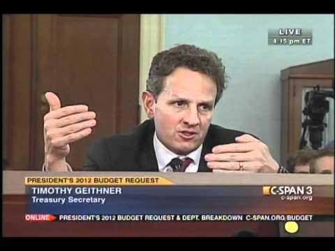 Congressman Huelskamp Questions Treasury Secretary Timothy Geithner