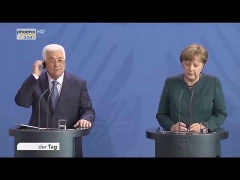 Nahost-Friedensprozess: Angela Merkel und Mahmoud Abbas geben Pressekonferenz am 19.04.2016