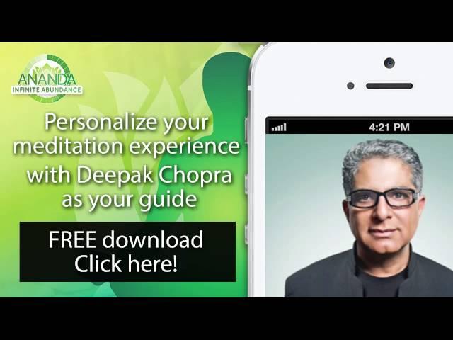 Infinite Abundance - The Meditator - Deepak Chopra