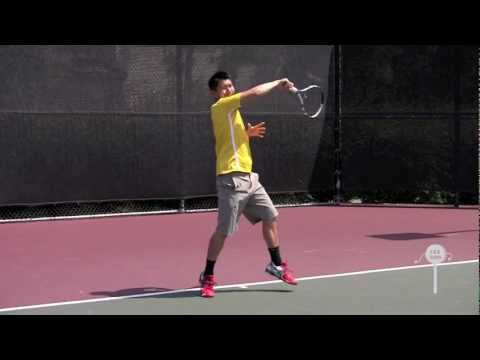 How to hit a テニス Forehand ( Modern ) in HD  / Instructional