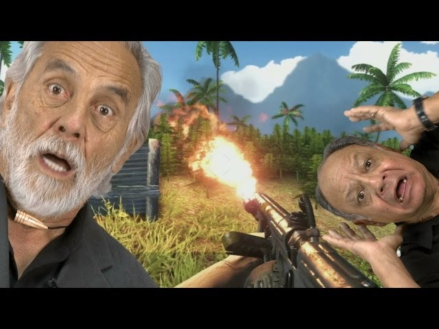 Far Cry 3: Cheech and Chong React to Weed Burning
