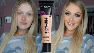 Download NEW L'OREAL INFALLIBLE TOTAL COVER FOUNDATION FIRST IMPRESSIONS REVIEW + DEMO 3Gp Mp4