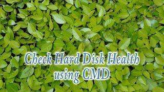 Check Hard Disk Health using CMD