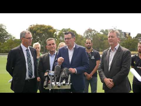 Premier Daniel Andrews announces Cricket Victoria Junction Oval Development