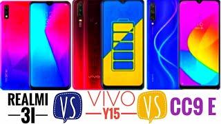 Xiaomi CC9e VS Realmi 3i VS Vivo Y15 | SPECIFICATIONS | Top upcoming phones | FINAL COUNTDOWN