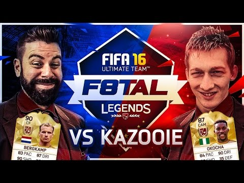 THE MOST INSANE KNOCK OUT GAME VS KAZOOIE94 - F8TAL - FIFA 16 Ultimate Team LEGEND BERGKAMP