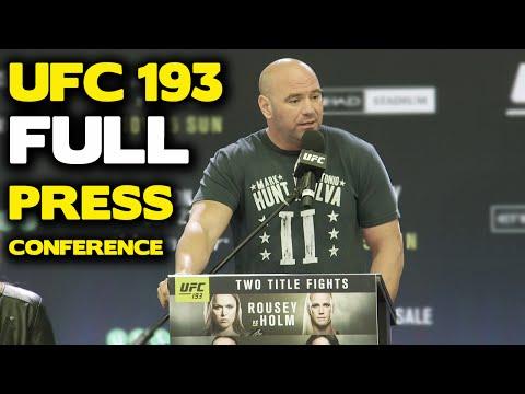 UFC 193: FULL Melbourne Press Conference w/ Rousey, Holm, Jedrzejczyk, Letourneau, Dana White