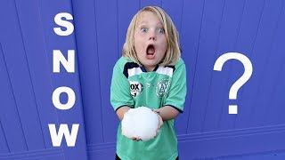 SURPRISE SNOWBALL FIGHT IN SUMMER!!