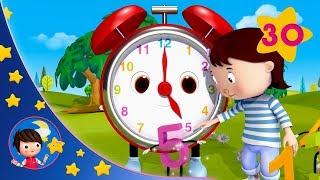 Telling Time Song | Kids songs | Nursery Rhymes |  Little Baby Bum | Sleep Baby Little Baby Bum