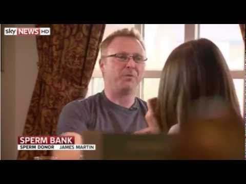 Sky News report on launch National Sperm Bank