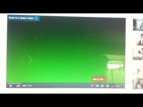 YouTube green screen problems