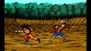 Luffy VS Goku! (Sprite Battle)