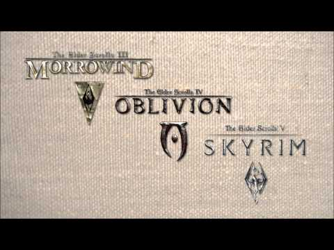 The Elder Scrolls III - V Main Themes - Morrowind, Oblivion, Skyrim Music Videos